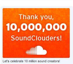 SoundCloud Statistik 10 Millionen User