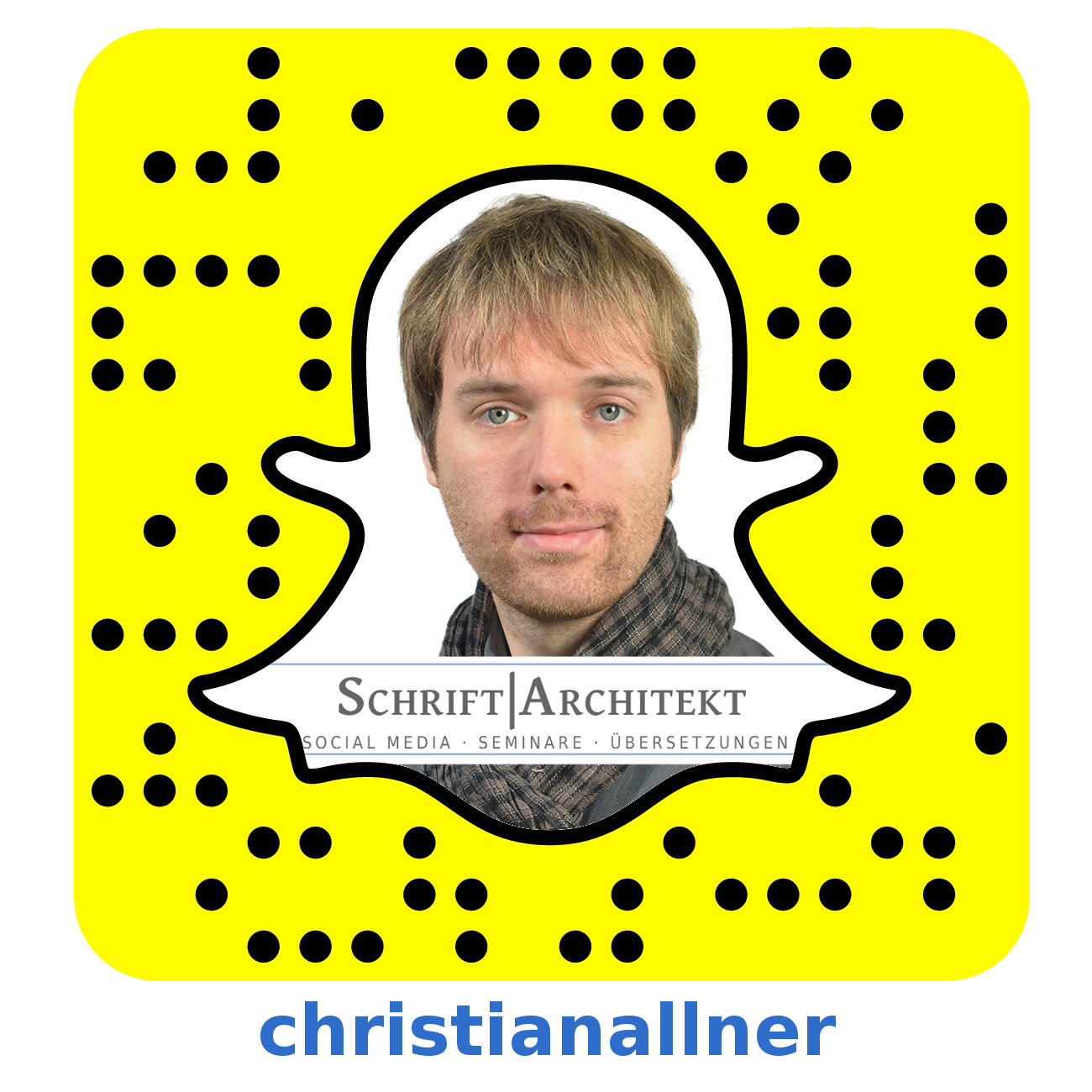 Der Snapcode von Christian Allner.